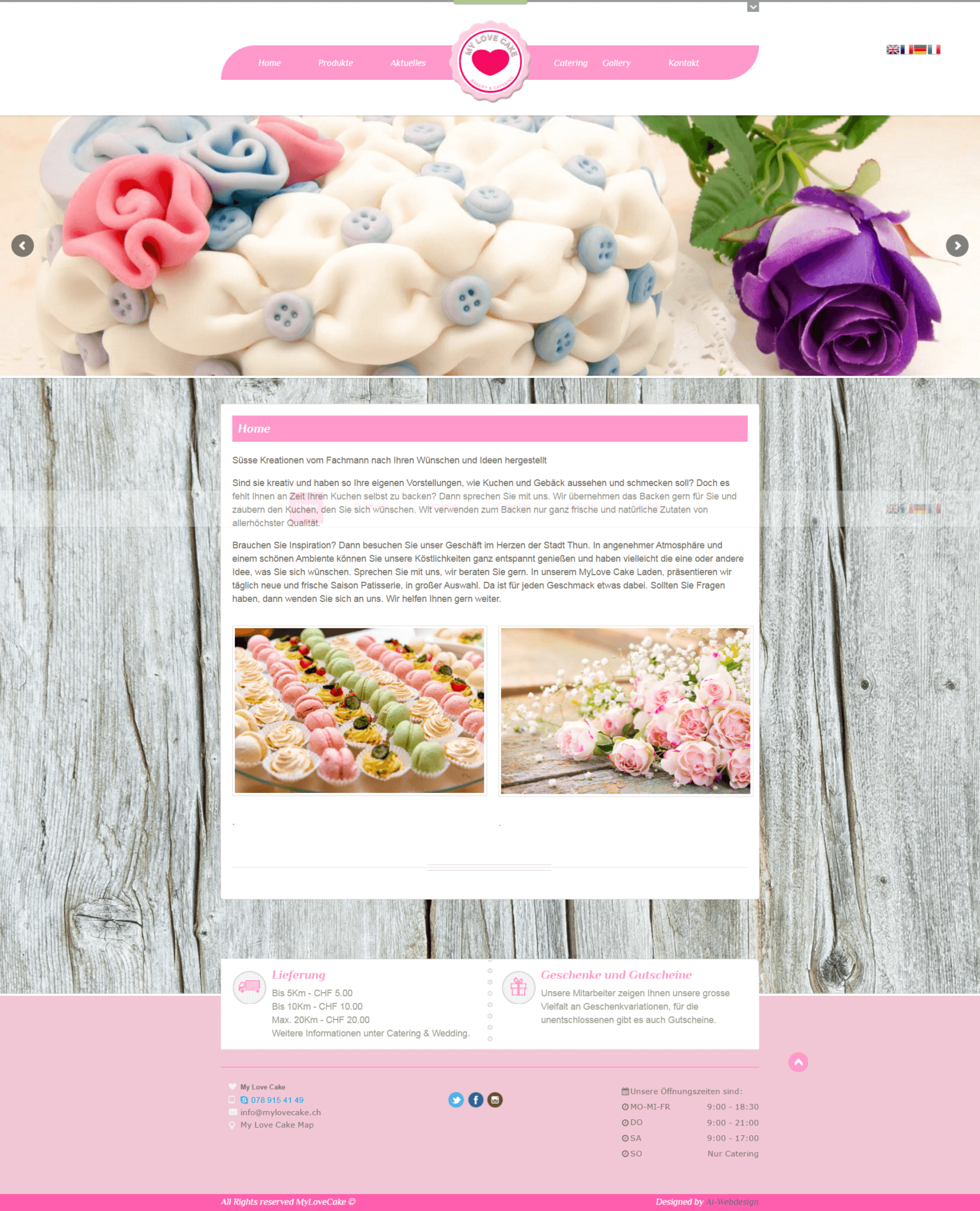 Webseite, MyLoveCake, Ai-Webdesign